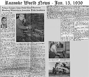 Roanoke World News - Jan. 15 1959