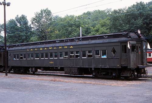 No. 3454 (ex-DL&W No. 2454) MU Parlor Car at Gladstone, NJ Aug. 19, 1984